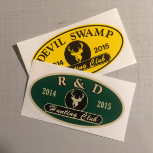 Style A Hunting Club Stickers