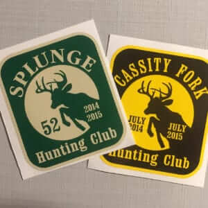 Style C Hunting Club Stickers