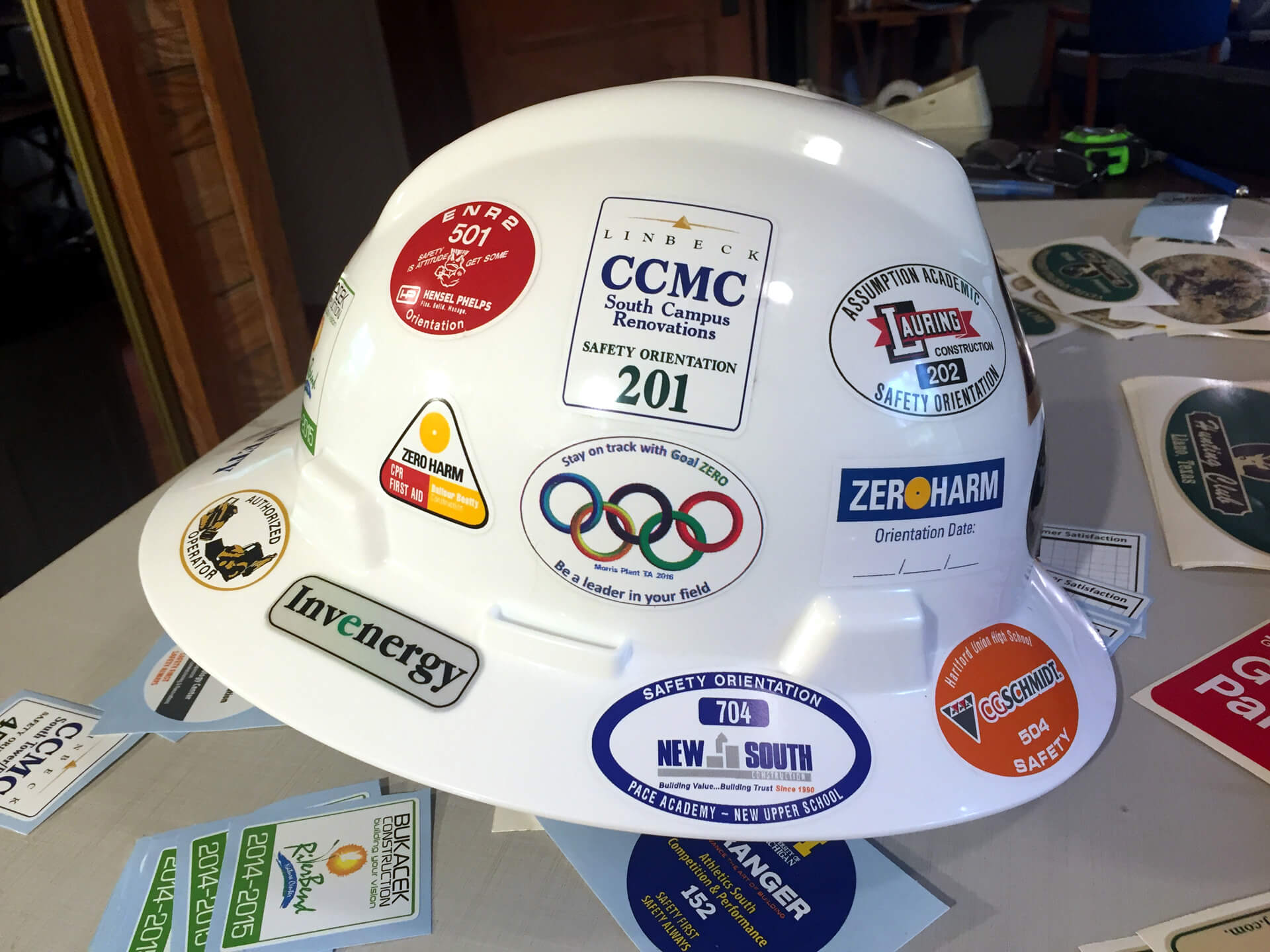 Basic Design 1-2 Color Hard Hat Stickers